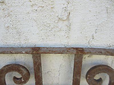 Antique Victorian Iron Gate Window Garden Fence Architectural Salvage #845