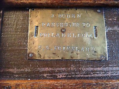 Antique Vintage Ships Trunk 19th Century, Collectable S S Friesland Ship 3