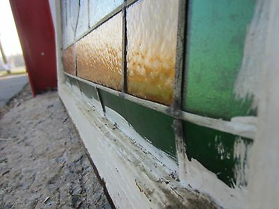 ~ Antique American Stained Glass Window ~ 24 X 36 ~ Architectural Salvage ~ 8
