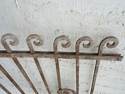 Antique Victorian Iron Gate Window Garden Fence Architectural Salvage Door #71 5