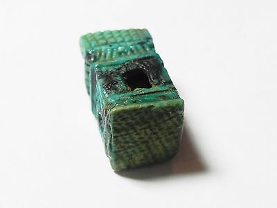 Zurqieh -Abq2- Extremly Rare Ancient Shrine Faience Amulet. 1075 - 600 B.c 6