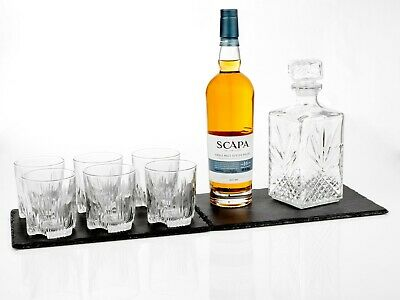 7 Glass Wine Whisky Bormioli Rocco Tumblers Whiskey Bottle Decanter Gift Box 3