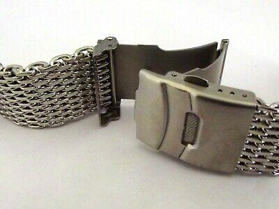 bracciale mesh shark massiccio orologi acciaio maglia milano silver ansa 20 mm 4