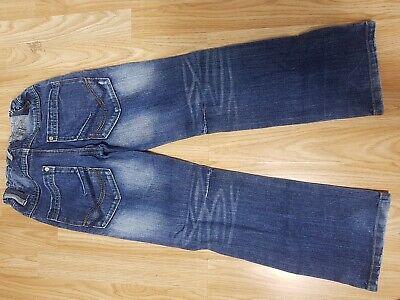 Next Boys Stonewashed Jeans Age 7 Years Blue Denim Trousers Adjustable Waist 4