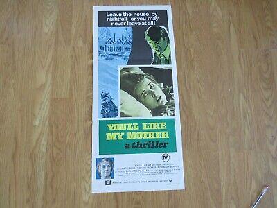 YOU'LL LIKE MY MOTHER ORIGINAL 1972 CINEMA DAYBILL FILM POSTER Patty Duke HORROR 4