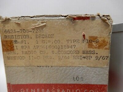 General Radio Decade Resistor Type 510-G Hundred Thousands .05% New Open Box 2