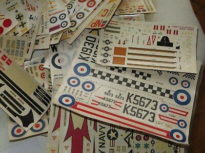 VINTAGE MODEL AIRCRAFT DECAL SHEETS Matchbox Hasegawa 1960s//70s HUGE SELECTION