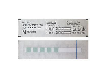 5 Wasserhärte Teststreifen von Merck - Kalk Teststäbchen - Indikatorpapier GH 2