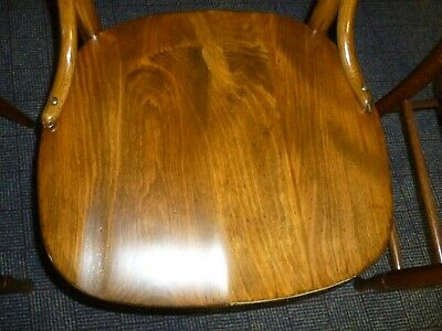 antique chair ash oak single refinished restored 1900's solid seat 4