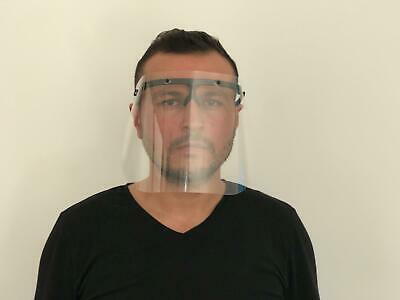Safety Full Face Shield Clear Flip-Up Visor Transparent Medical Dental Glass 4