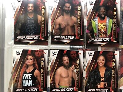 Topps WWE Slam Attax Universe,Complete Set 349 Cards + Collectors & 7 Limited 9