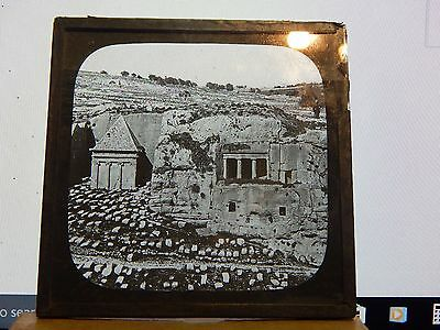 Antique Glass Slide Ancient Graves In The Holy Land  Magic Lantern 2