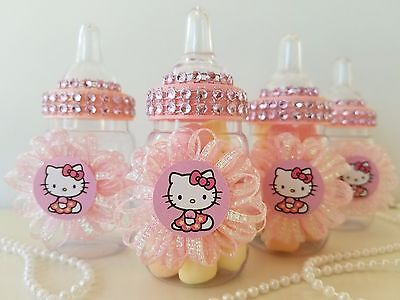 4d3cdb741 ... 12 Hello Kitty Fillable Bottles Favors Prizes Games Baby Shower Girl  Decorations 9