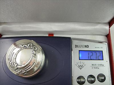 VINTAGE BEAUTIFUL 800 J.B. Continental silver Edwardian pill box 9