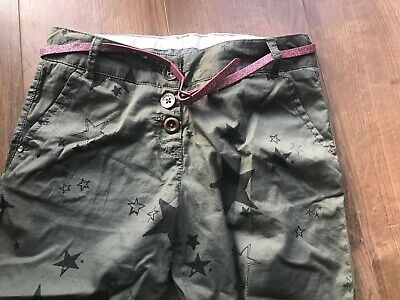 Next Girls Green Star Belted Trousers - Age 11 Years 2