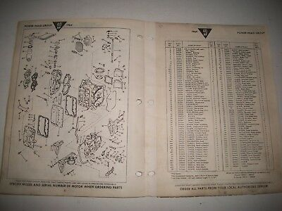 1964 Johnson & Evinrude 40 Hp Outboard Parts List 40402S-R 404035S-R Rd-26S-R