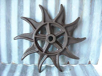 Rare Rotary Hoe Wheel Antique Yard Art Steampunk Cast Iron