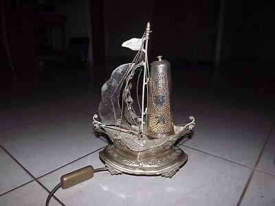 Lampe Bateau En En Métal Bateau Argenté Métal Lampe Argenté 8NOXP0wkn