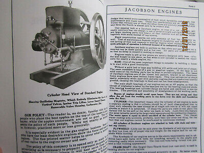 Jacobson Gasoline Engines Catalog, 2 1/2HP to 16HP Gas and Kerosene Types Pics! 2