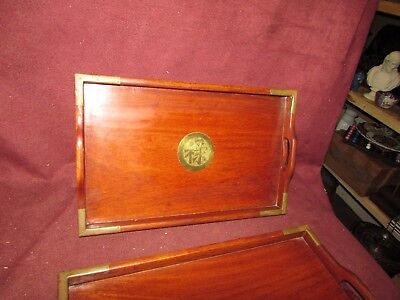 Set Chinese Old or Antique Hardwood Nesting Trays 20th century 6