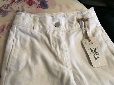 Next - Girls Ankle Length WHITE Culottes (5 years) Adjustable Waist NWT £13 5