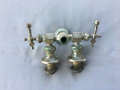 Antique Nickel Brass Claw Foot Bathtub Faucet Old Vtg Haydenville Co. 235-19J 4
