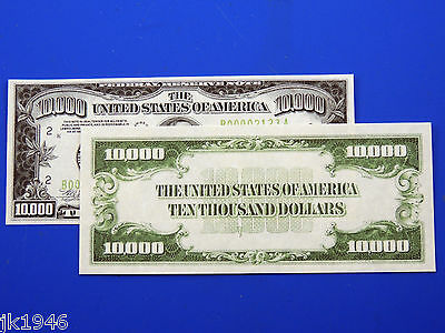 Reproduction $10,000 1934 FRN US Paper Money Currency Copy