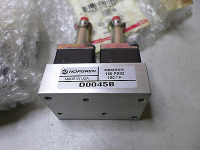 "NORGEN 2 PORT SOLENOID MANIFOLD - Qty of 2 - 1/8"" ports - D0045B"