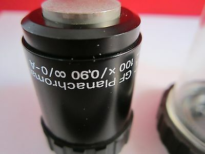 Optique Microscope Objective Aus Jena 100X Infinity Plan Achro Optiques Bin #C6 2
