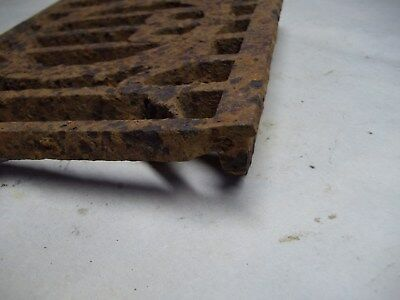 Broken part of antique furnace or stove vent or grate ? with design 7