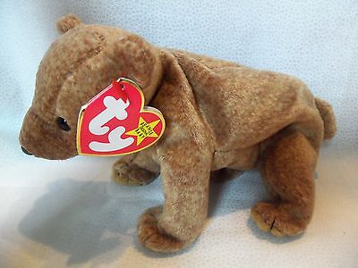 TY BEANIE BABIES Brown Bear    PECAN    5th Generation New w  Tag ... 85de492f0d6