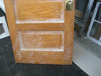 """circa 1900 SOLID oak PANELED door CHICAGO brownstone 83.5"""" x 32"""" x 1.75"""" 12"""