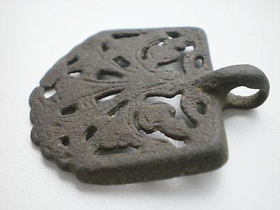 RARE ANCIENT Bronze Belt Decoration Belt End Viking Kievan Rus  10 - 12 cen AD 7