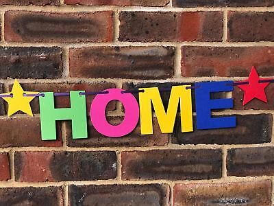 Personalised Welcome Home Banner Bunting Decoration Multi-Colour New Arrival 5