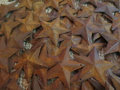 Lot 100 Rusty Barn Stars 2.25 inch Primitive Country Rusted Tin Metal Americana