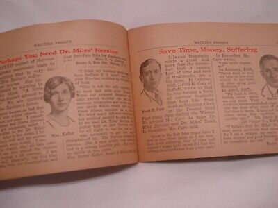 1920'S Dr Miles Written Proofs Quack Medicine Tract Booklet 5
