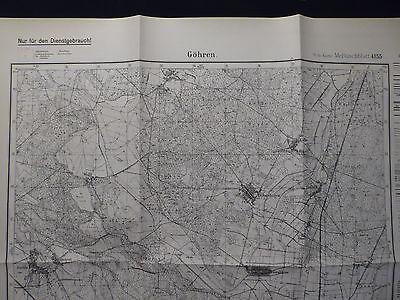 Landkarte Meßtischblatt 4155 Göhren i.d. Neumark, Krs. Crossen, von 1938