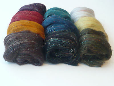 Heidifeathers®  'Shimmer Mix' Merino Wool Tops With Sparkle  - Felting, Spinning 3
