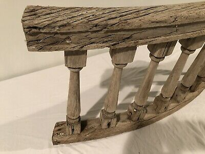 Antique Weathered Wood Arched Balusters 8