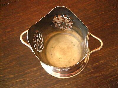 elegante Menage Flaschenhalter für kleine Flaschen Eiswein Essig Öl silber pl 4