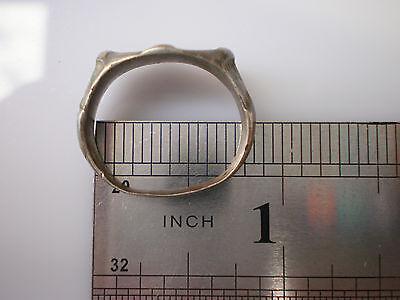 Superb ANCIENT RARE Viking Silver FINGER RING  Signet  ca 8 - 10 century AD #1
