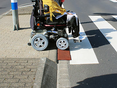 Bordsteinkanten-Rampe Excellent Profi Set 45/1000 Rollstuhl Rollator Autorampe