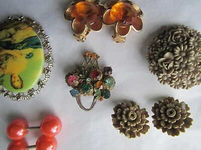 Jewellery various - earrings  and. broaches 6
