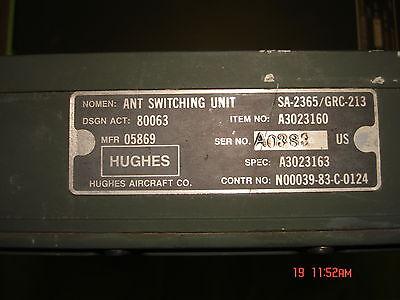 SWITCH UNIT MT-6234 MILITARY RADIO GRC-213 MOUNT /& ANT