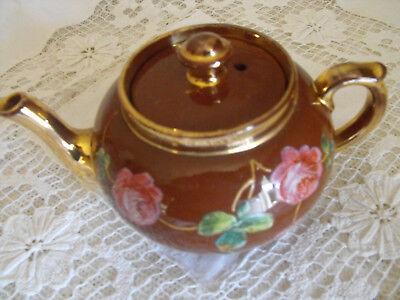 Teekanne von G & S Ltd Albany & Harvey Burslem Made in England, gemalte Rosen