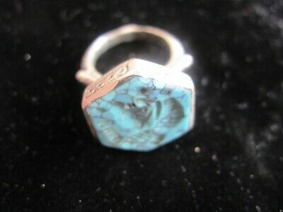 AUTHENTIC MEDIEVAL SILVER RING - w/ SEAL BUST - WEARABLE - over 1,000 years old 5