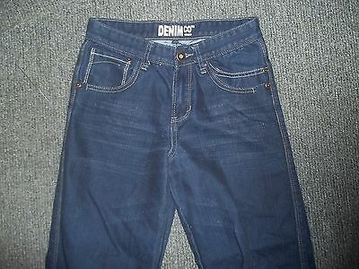 "Denim Co Relaxed Jeans Waist 26"" Leg 26"" Faded Dark Blue boys 11/12 Yrs Jeans 2"