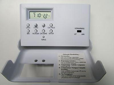 Raumtemperaturregler Raumthermostat Batteriebetrieb mit Wochenprogramm Zeit-Uhr 3
