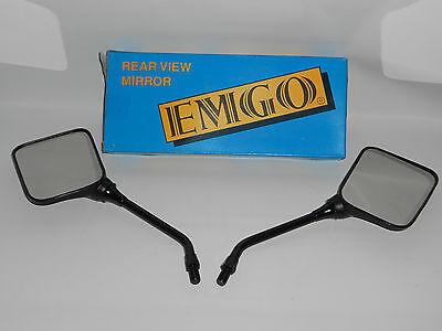 10mm Thread PR Emgo Universal Rectangular Mirror Roadhawk Stem Black 5in