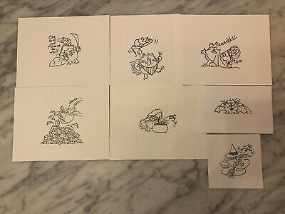 Stampendous Fluffles Cat Stamp Stamped IMAGES on CARDSTOCK ONLY - Your Choice 12